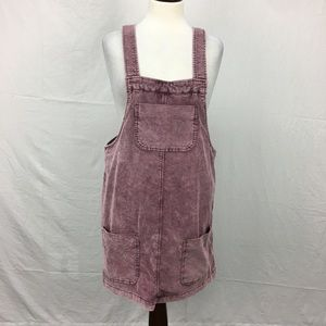 BDG Purple Corduroy Overall Dress